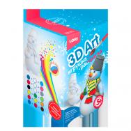 Р2217 Игрушка-раскраска Забавный снеговик 3D Art
