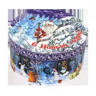 А20340 Шкатулка круглая Новогодний лес