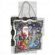 А20702 Коробка фигурная Дед Мороз и Снегурка