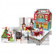 Г21745 Новогоднее кафе + игровое вложение с фигурками