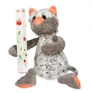 Кот с розой (мягкая игрушка+ Raffaello 80г)