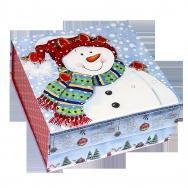 А2152 Снеговик со снегирями (фиксация крышки на магните)