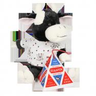 Т209101 Бычок Уголёк с пакетом молока