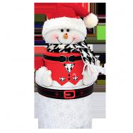 T1741 Снеговик туба с шарфом