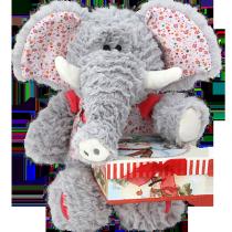 И17020А15921 Слонёнок Хобит +Коробка Снеговики