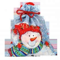 П21723 Мешок Снеговик со снегирями